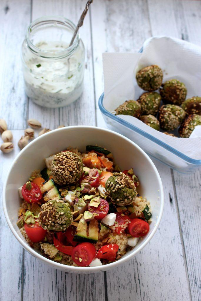 recept couscous couscoussalade falafel seizoensgroenten augustus