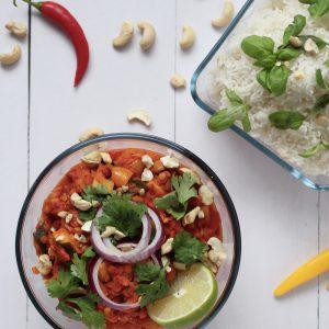Recept vegan veganistische linzencurry seizoensgroenten oktober