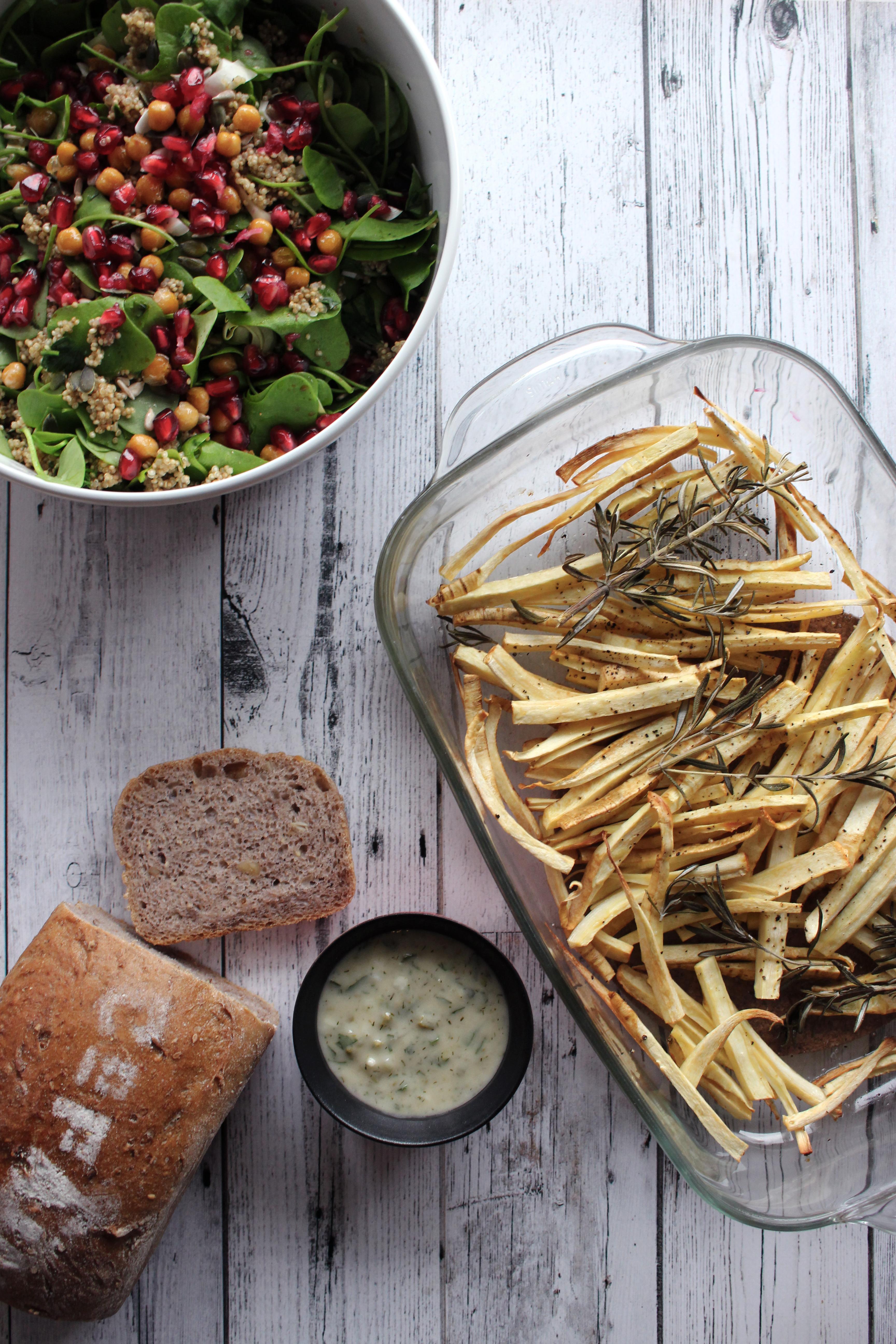 Vegetarisch recept pastinaakfrietjes seizoensgroente december