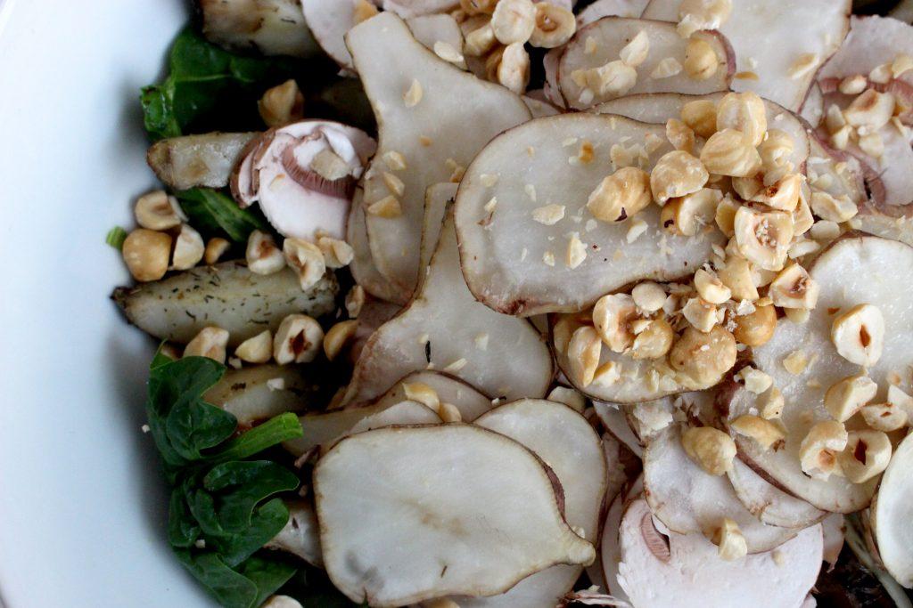 1 week gezonde lunch aardpeersalade