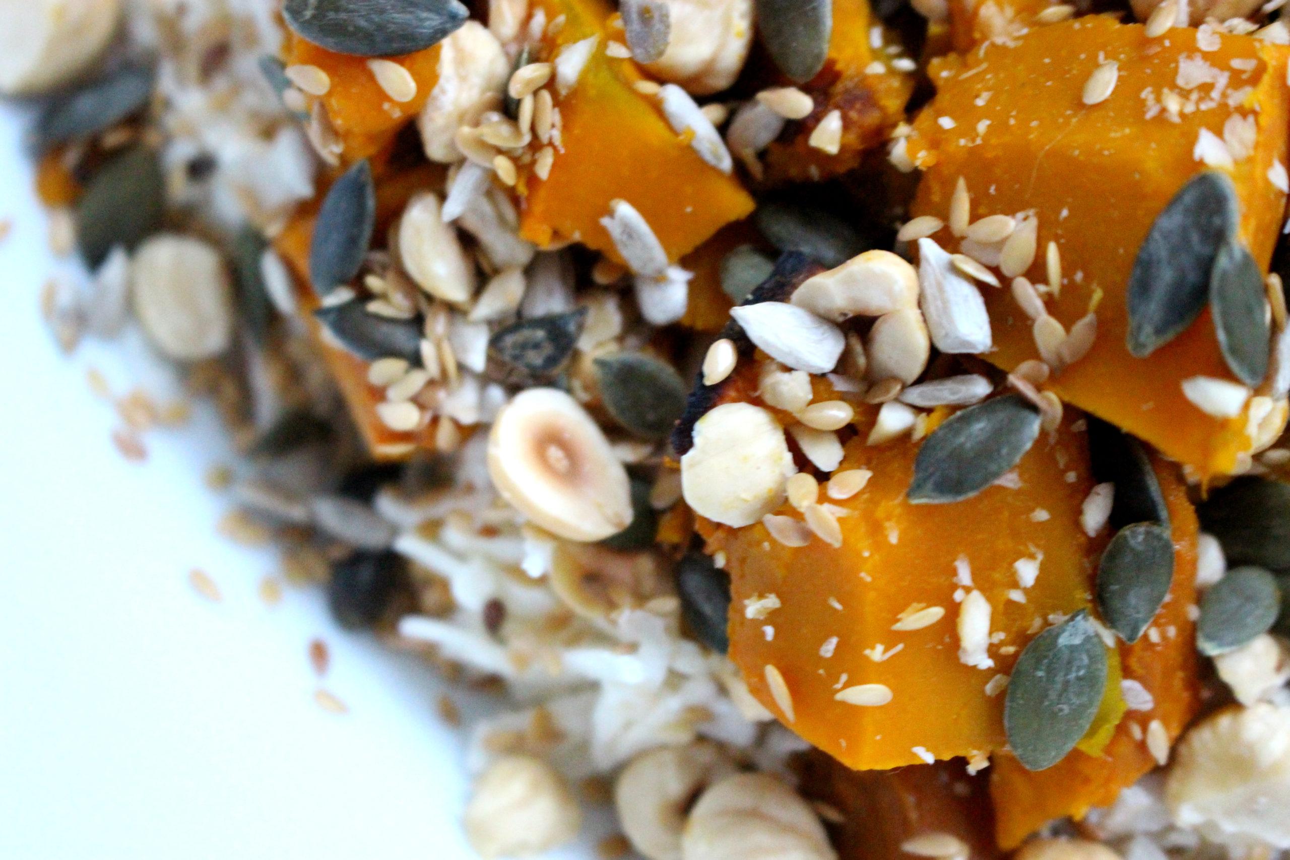 1 week gezonde lunch veganistisch recept pompoensalade