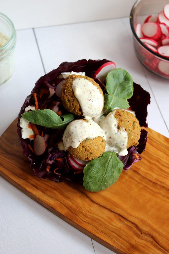 vegetarische recepten Falafel wrap seizoensgroenten april