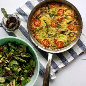 Vegetarisch recept frittata warmoes seizoensgroenten juni warmoes