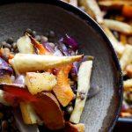Recept januari – Geroosterde pastinaak en zoete aardappel met linzen