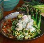 vegetarisch recept seizoensgroente mei asperges rösti ei